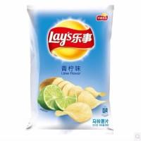 乐事薯片(新老包装随机发货)70克/80克青柠味单袋