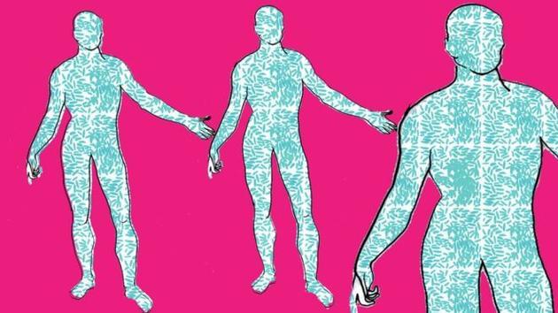 人类细胞只占人体总细胞数量的43%,其余都是由微生物细胞组成。