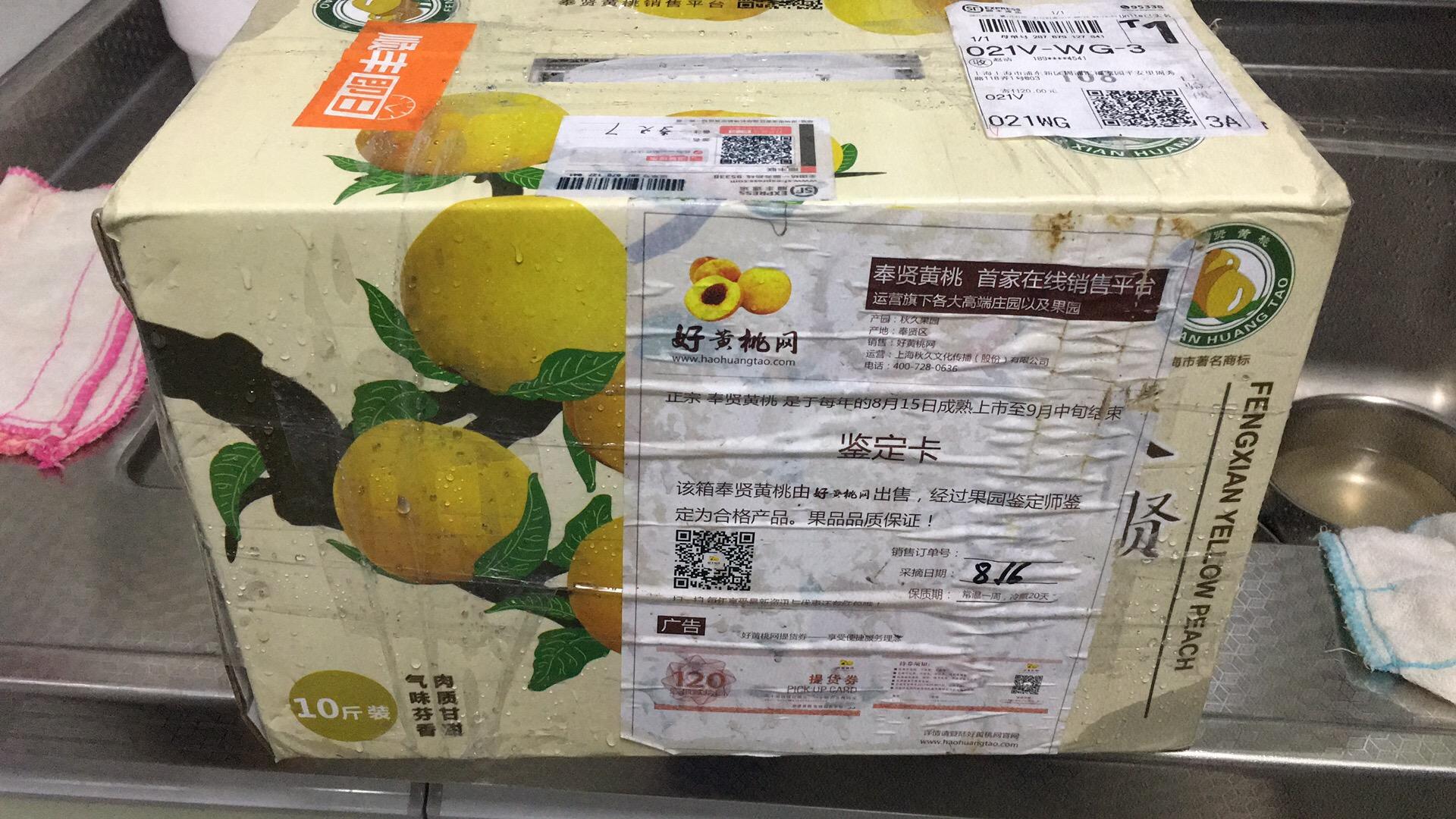 台风天收到黄桃  非常感谢  包装很好  样子不错  期待口感更好吃